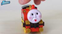 托马斯小火车变成托马斯白爷爷小火车