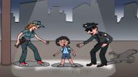 脑力测试:左还是右,迷路的孩子应该选择哪一个警察?