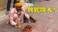 太恶劣!印度路边耍蛇人,威胁中国小哥给钱,竟然要放蛇咬人