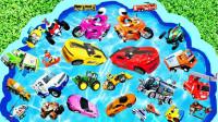 儿童早教启蒙玩具认知:环卫车、公交车、蜘蛛侠、警车、怪兽卡车、赛车!
