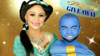 国外小姐姐的迪士尼公主仿妆,神灯精灵,你能实现我的愿望吗?