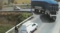 这位车主实在太惨了!临死前都没弄明白,监控拍下他生前最后3秒