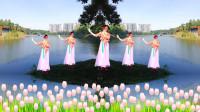 优美抒情的舞蹈《三月桃花雨》广场舞漂亮好看又好跳