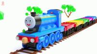 小火车和工程车挖掘机玩具