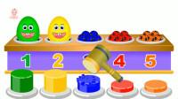 彩蛋玩具和水果蔬菜