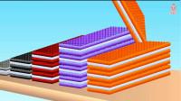 彩色威化饼干堆堆乐玩具学颜色和数字