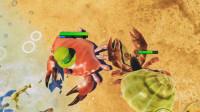 螃蟹模拟器游戏:被龙虾击败