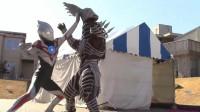 在奥特两兄弟的帮助下,欧布奥特曼拿着一把剑终于击败了强敌