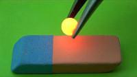 当加热到1000度的铁球,遇上橡皮擦会发生什么呢?老外实验告诉你答案