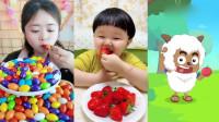 小可爱直播吃泡泡糖大聚会,各种口味任意选