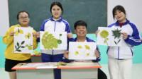 老师让学生用树叶做手工,没想王小九做出了一只孔雀,太厉害了