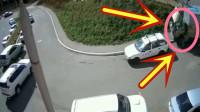 司机下车修车,货车自己却开动,揪心的画面发生了