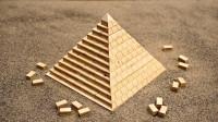 金字塔到底是怎样建成的?牛人用木块演示全程,解开我多年困惑!
