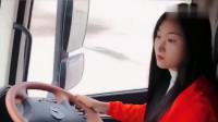 货车女司机:看大车女司机紧急情况的反应,一顿操作猛如虎,技术太高了!