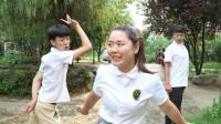 """学生比赛""""超大步"""",结果女同学和小伙一起套路学霸!太逗了"""