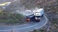 无人驾驶半挂车失控撞上大货车,若不是监控殊不知这一幕多瘆人!