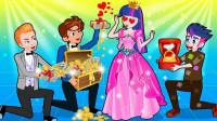 阿坤假扮乞丐挑公主 谁才是他的真爱?小马国女孩游戏