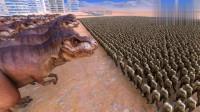100只恐龙王者霸王龙vs10000个丧尸,最后结果会如何?