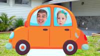 萌娃小可爱的爸爸开着小汽车带着她要去哪里呢,为何她一脸不开心?