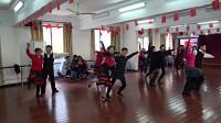 绣红旗 (慢四版)《朱泾镇退休教师交谊舞组》