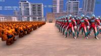 大海解说史诗战争模拟器:100个银河奥特曼VS1千个石头人,谁胜谁负?籽岷小本五之歌大橙子方块学园