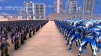 大海解说史诗战争模拟器:1000个奈克赛斯奥特曼VS1千个灭霸,谁能赢?籽岷小本五之歌大橙子方块学园