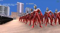 大海解说史诗战争模拟器:50个赛文奥特曼VS2千个铁血战士,结果如何?籽岷小本五之歌大橙子方块学园