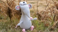 毛儿手作-可爱幸运鼠 棒针编织新手零基础教程