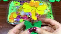 彩虹水晶泥+炫彩果冻泥+起泡胶+拉杆箱彩泥,DIY史莱姆,手感超棒