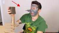 超级磁王钕磁铁能将脸上网红磁石面膜吸干净?这吸力简直厉害!