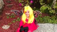 小女孩的花仙子仿妆,花园里的小精灵,可爱极了!