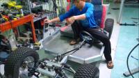 四个轮子一个沙发,看牛人造自制电动车,第一集