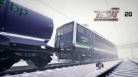 火车模拟世界2020 能见度极差 冬季暴雪BR155运输石油 德国莱茵鲁尔东线