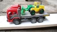 铲车装载机工程车搭乘大卡车