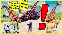 【XY小源】模拟动物园 长颈鹿篇 骆驼是什么感受