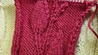 看了就会喜欢的一款树叶花花型教程二,立体感强的树叶花型,时尚漂亮,编织各种款式的毛衣都很好看的