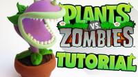 手办:用软泥打造一个植物大战僵尸食人花!