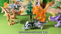 54 小恐龙们在森林里玩捉迷藏游戏,太开心啦