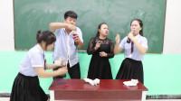 挑战吃汉堡喝可乐,女同学三秒一个汉堡,五秒一瓶可乐!真厉害