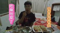 小伙老挝夜市买小吃,各种天上飞的地下跑的虫子,最后吃癞蛤蟆?