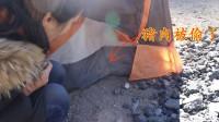 小情侣自驾游西藏,在路边露营,一觉醒来发现带的猪肉被偷了