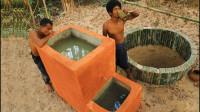 原始技术,野外生存如何过滤脏水,野外不愁没干净水喝了