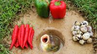 奇葩老外用辣椒来捕鱼,边捕边腌,抓出来直接下锅连辣椒都不用放了