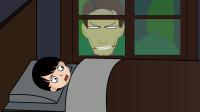 悬疑动画:无人的夜晚,我看到一张可怕的人脸,出现在我家窗外