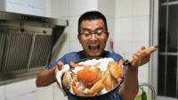 赶海抓到3~4斤大螃蟹,来个盐焗蟹吧,这一口给100都不换