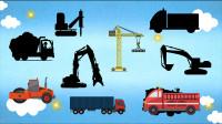 学习认识挖掘机 压路机等9种工程施工车