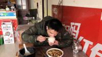 打工仔下馆子,一盆水煮鱼片,米饭免费,吃4碗饭,狼吞虎咽真香