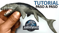 手办:用软泥打造一个侏罗纪世界里的沧龙,帅气吗?