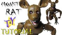 手办玩偶:用软泥打造一个怪物鼠,你认识吗?