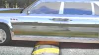 银色红旗过减速带,太稳了!土豪:甭管多少钱,这车我买定了!
